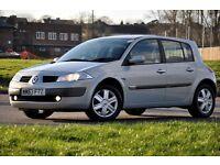 2003 Renault Megane 1.4 16v Dynamique 5 DOORS+12 MONTHS MOT+LOW MILEAGE ONLY 44.414 MILES
