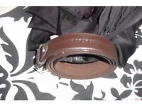 NEW MEN'S CHOCOLATE BROWN BELT WAIST 42""