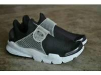 Nike sock dart black n grey and blue sizes 7.8