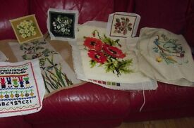 LARGE SELECTION OF EMBROIDERY ALL DIFFERENT SIZES GREAT COLLECTION