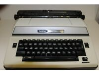 Portable Electric Typewriter. 1980's Brother Super 7300. Complete, Undamaged, In Good Working Order.