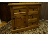 Solid Wood Rustic Pine Sideboard