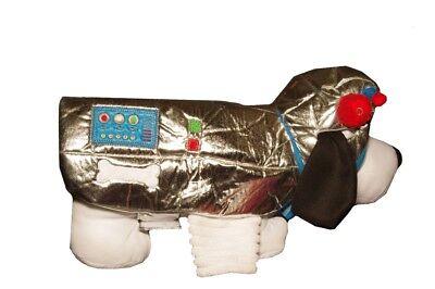 Pet LED Light UP Dog Astronaut Space suit First Man Halloween Costume S M L - Space Dog Kostüm