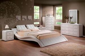 8 PC QUEEN  BEDROOM  SET --PLATFORM BED