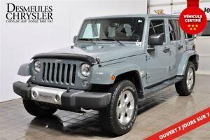 2015 Jeep WRANGLER UNLIMITED Sahara**CUIR**GPS**HITCH** SIÈGES C