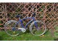 "Mens City Bike. Four speed. 17"" frame (43cm). Fully serviced"