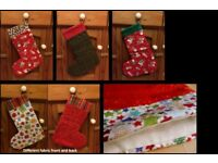 Beautiful handmade bunting and stockings - prefect Christmas presents!