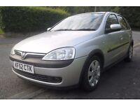 2002 (52 reg) Vauxhall Corsa SXi 1.2i 5 door, 12 months MOT, great condition