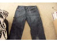 """AGE 13-14 PAIR BOYS """"BENCH"""" DENIM JEANS SIDE POCKETS + ON LEGS"""