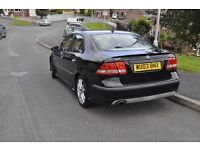 Saab 9-3 Aero 2.0t M.O.T till may service history Grey leather interior with electric front seats