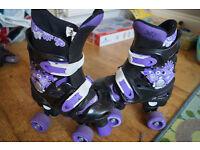 XQ Max Girls Adjustable Size(13-3) Roller Quad 4Wheel Skates UK