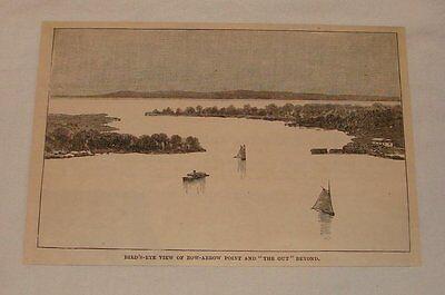 1887 magazine engraving ~ BOW ARROW POINT + THE GUT Vermont