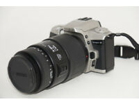 Minolta Dynax 4 with a Sigma 70-300 lens