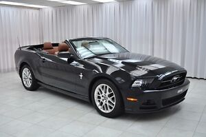 2013 Ford Mustang PONY PKG V6 CONVERTIBLE COUPE w/ HTD LEATHER,