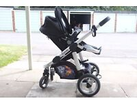 icandy Apple to Pear double pram/ stroller package, well used but in a good condition