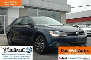 2013 Volkswagen Jetta 2.5L Highline + CUIR + AUTOMATIQUE + FENDE