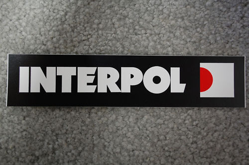 Interpol Sticker (S422)