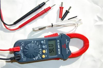 Digital Clamp Meter Ammeter Volt Ohm Amp Multimeter Dmmtype K Thermocouple Hvac