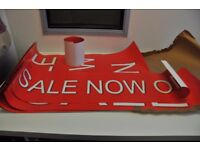 SALE shop posters - lots of different sizes, good condition.
