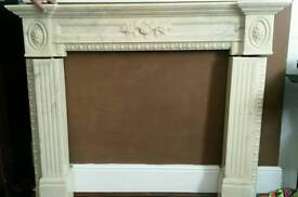 fire surround, marble look