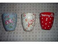 CATH KIDSTON 'CRUSH' MUGS ALL 3 FOR £10! COLLECT TW2 AREA