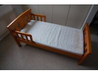 Wooden Junior Bed - great first bed after outgrowing the cot.