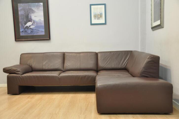 Très beau salon 100% CUIR 265x220 cm brun moderne | 2ememain.be