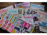 Miscellaneous interior design magazines, including US