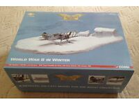 Corgi Aviation Archive J-8A Gladiator with skis and diorama, boxed