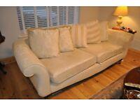 3 seater sofa beige - Lenleys