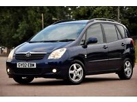 2002 Toyota Corolla Verso 1.8 VVT-i T3 5dr+MPV+JUST SERVICED+12 MONTHS MOT+SERVICE HISTORY