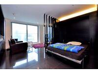 Modern Studio Apartment in Pan Peninsula Square, E14, Concierge, Gym, Balcony, Cinema, Sky Bar- VZ
