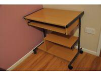 pc desk sliding shelf