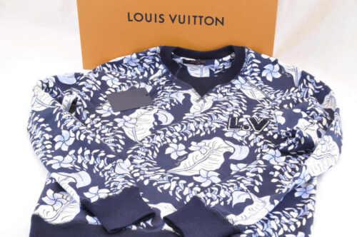 Louis vuitton ras cou pulls manches longues coton sweat xs authentique ak039