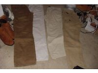 SELECTION OF MEN'S TROUSERS SIZE 32S + 34S 4 PAIRS IN TOTAL
