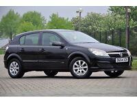 2004 Vauxhall Astra 1.6 i 16v Club 5 DOORS+HATCHBACK+1 FORMER KEEPER+BLACK