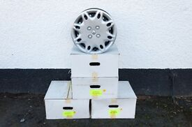 "Set of 4 x 14"" Renault steel wheels and wheel trims - Very little use"