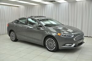 2017 Ford Fusion SE ECOBOOST AWD SEDAN w/ Leather Interior, Sunr