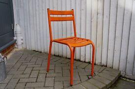 Vintage French Tolix Orange Chair