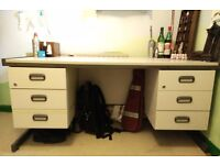 Good large grey office desk