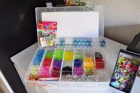 Mix Colourful Rubber Loom Bands Bracelet Making Kit Set W S-clips