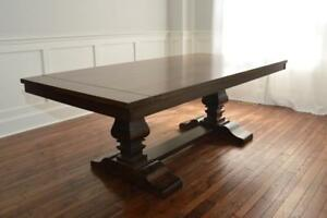 New! Modern Solid Wood Dining Tables & Dining Sets, Solid Maple, Oak, Cherry - Built in Canada by the Mennonites