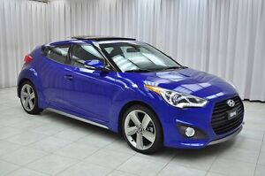 2013 Hyundai Veloster TURBO TECH 4PASS 4DR HATCH w/ HTD LEATHER,