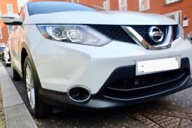 2015 White Nissan Qashqai, 1.2 Auto, only ONE owner from new, Excellent condition -Bargain!