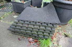 RUBBER MATS used suitable for patios, kids playareas, sheds or stables