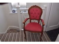 reproduction button back chair