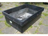 LARGE INJECTION MOULDED PLASTIC FISH POND 70 X 47 X 23 INCHES