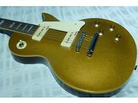 Vintage Electric Guitar V100GT Gold Top Les Paul