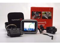 Tomtom Rider 2 motorcycle and car Sat Nav (satellite navigation) with accessories - hardly used!