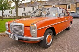 Rare Mercedes Benz 200 1976 W115 Signal Orange RHD